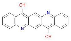 Пигмент-виолетова-19-молекуларно-структура